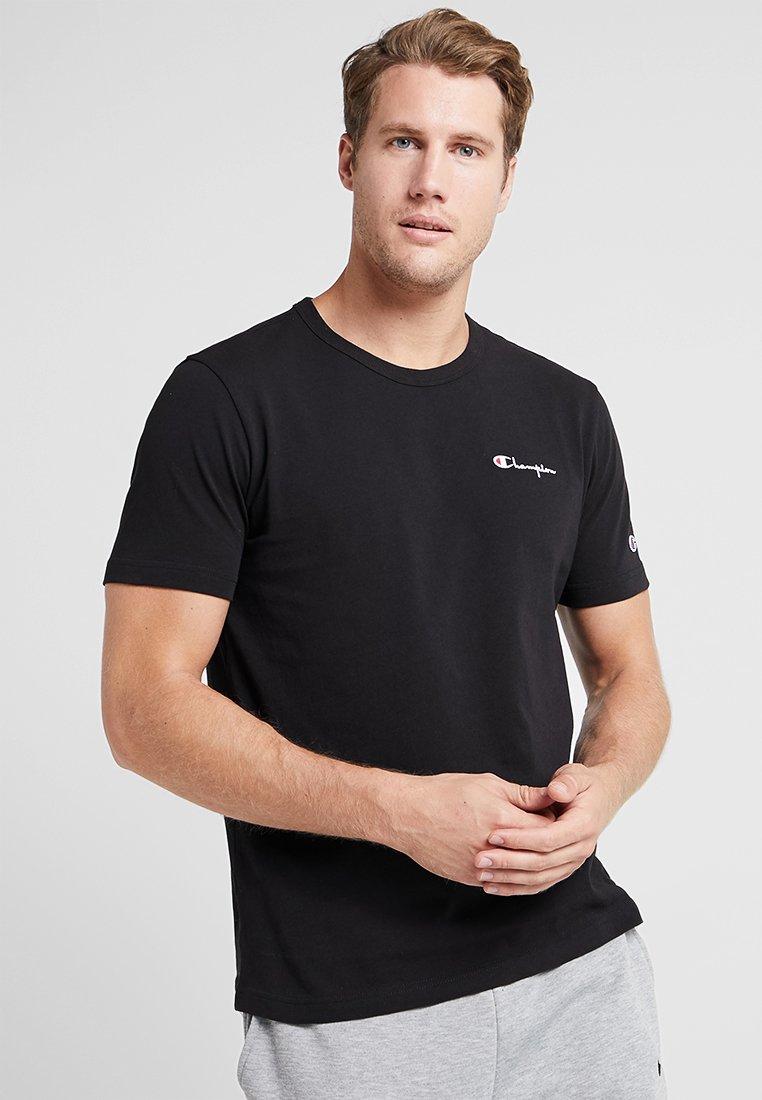Champion Reverse Weave - CLASSIC APPLIQUE TEE - T-shirt - bas - black