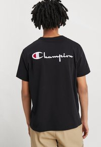 Champion Reverse Weave - BACKPRINT - Triko s potiskem - black - 0