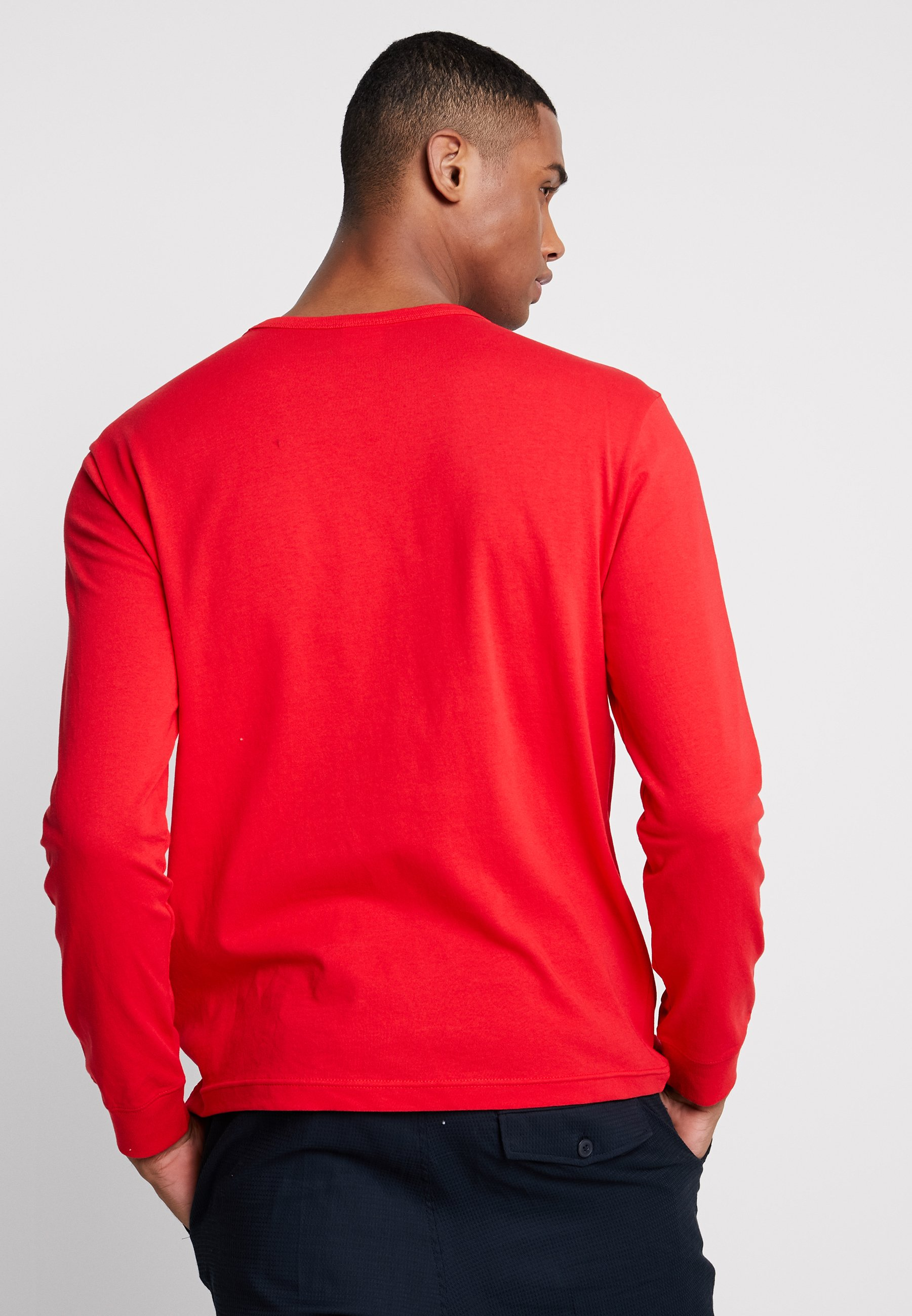 Big Logo Longues Long SleeveT Reverse shirt Red Weave À Champion Manches Crewneck DI2EH9W
