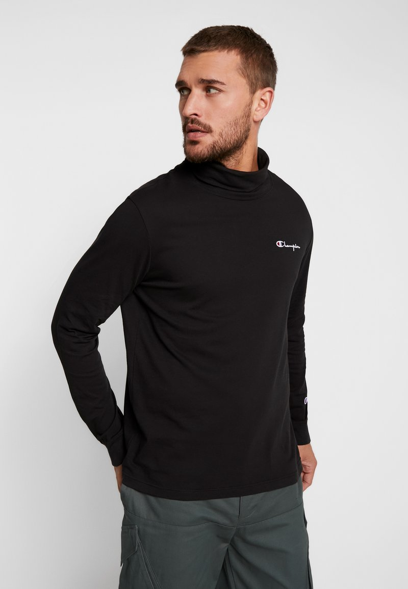 Champion Reverse Weave - HIGH NECK - Long sleeved top - black