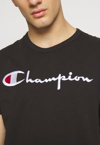 Champion Reverse Weave - Printtipaita - black - 3