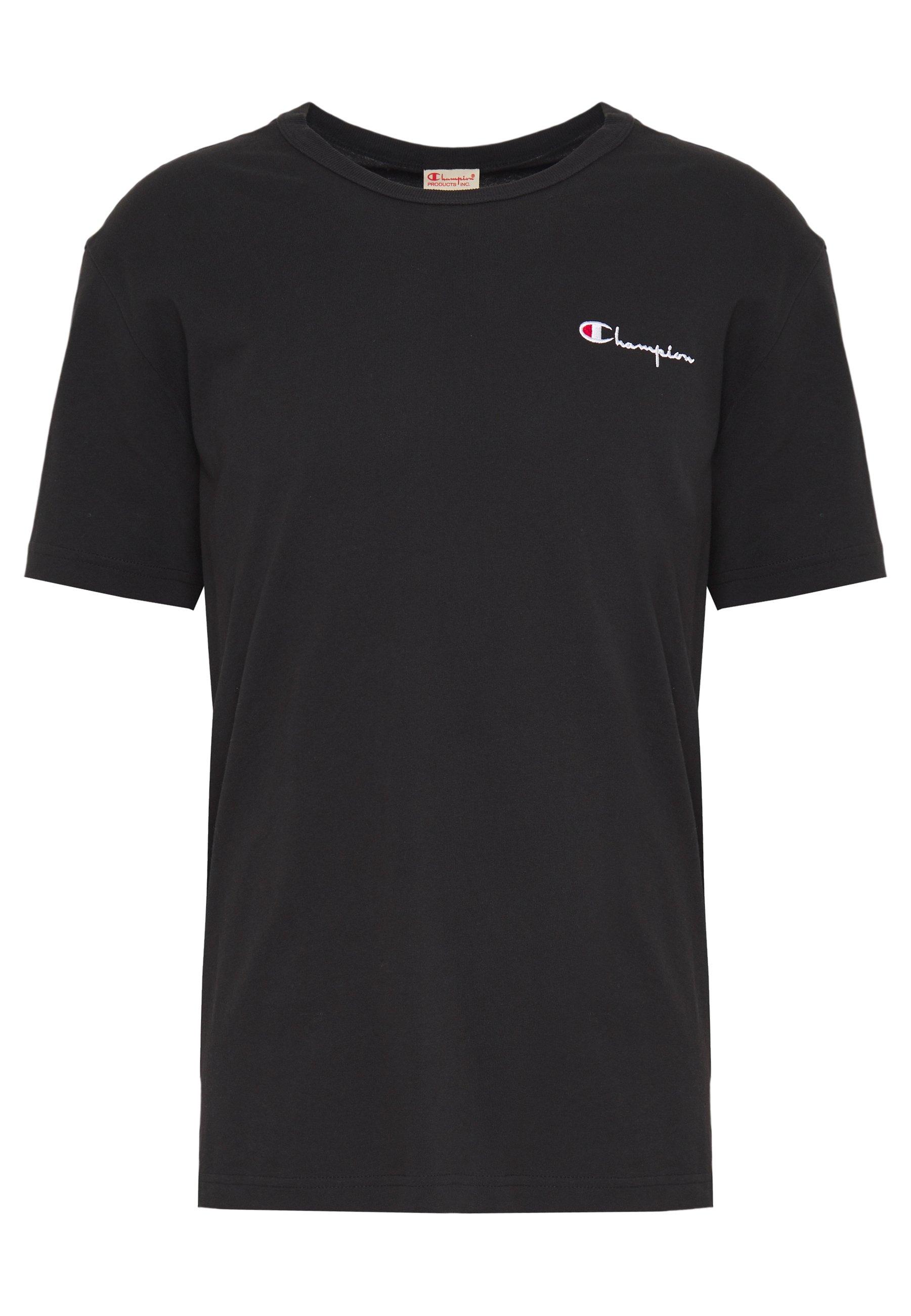 Champion Reverse Weave CREWNECK - T-shirt z nadrukiem - black