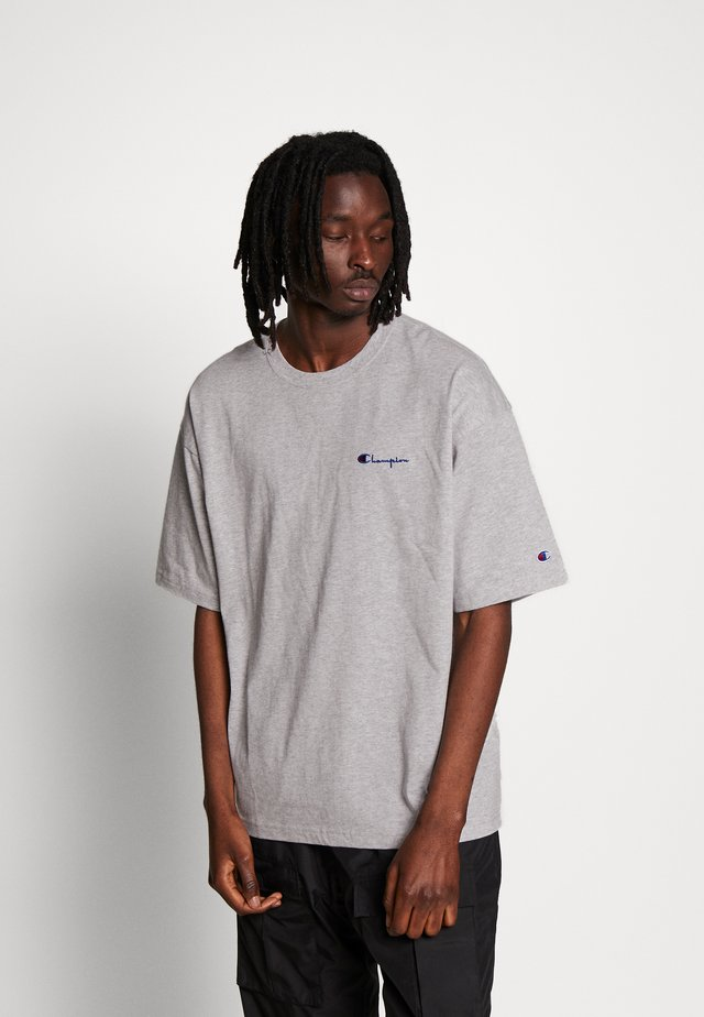 BOXY FIT CREWNECK - T-shirt con stampa - mottled light grey