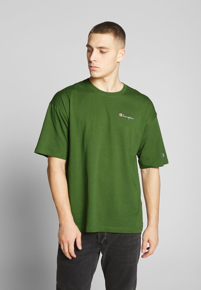 BOXY FIT CREWNECK - T-shirt con stampa - olive