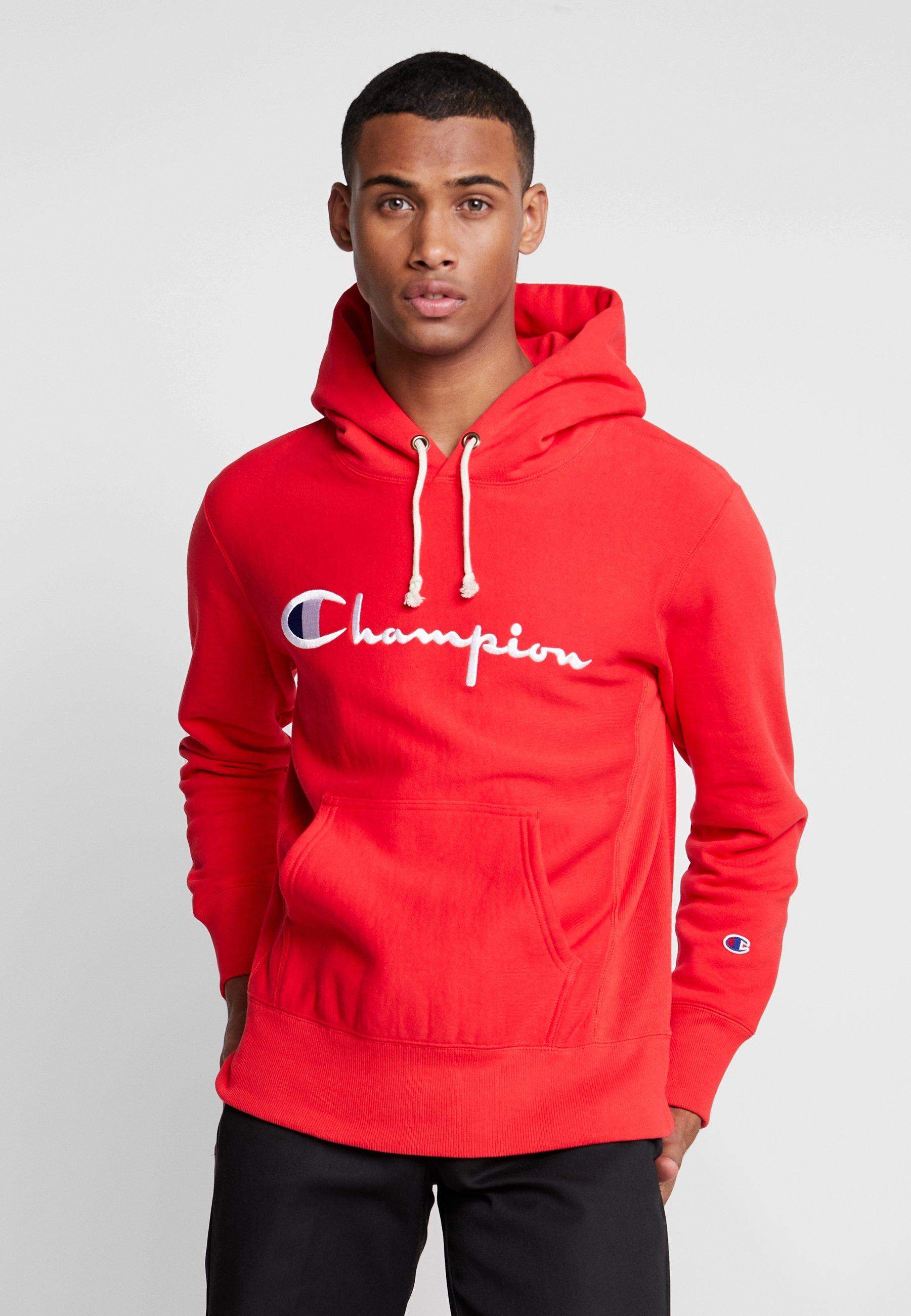 Capuche Champion Weave À Red Reverse HoodedSweat SzMVUpq