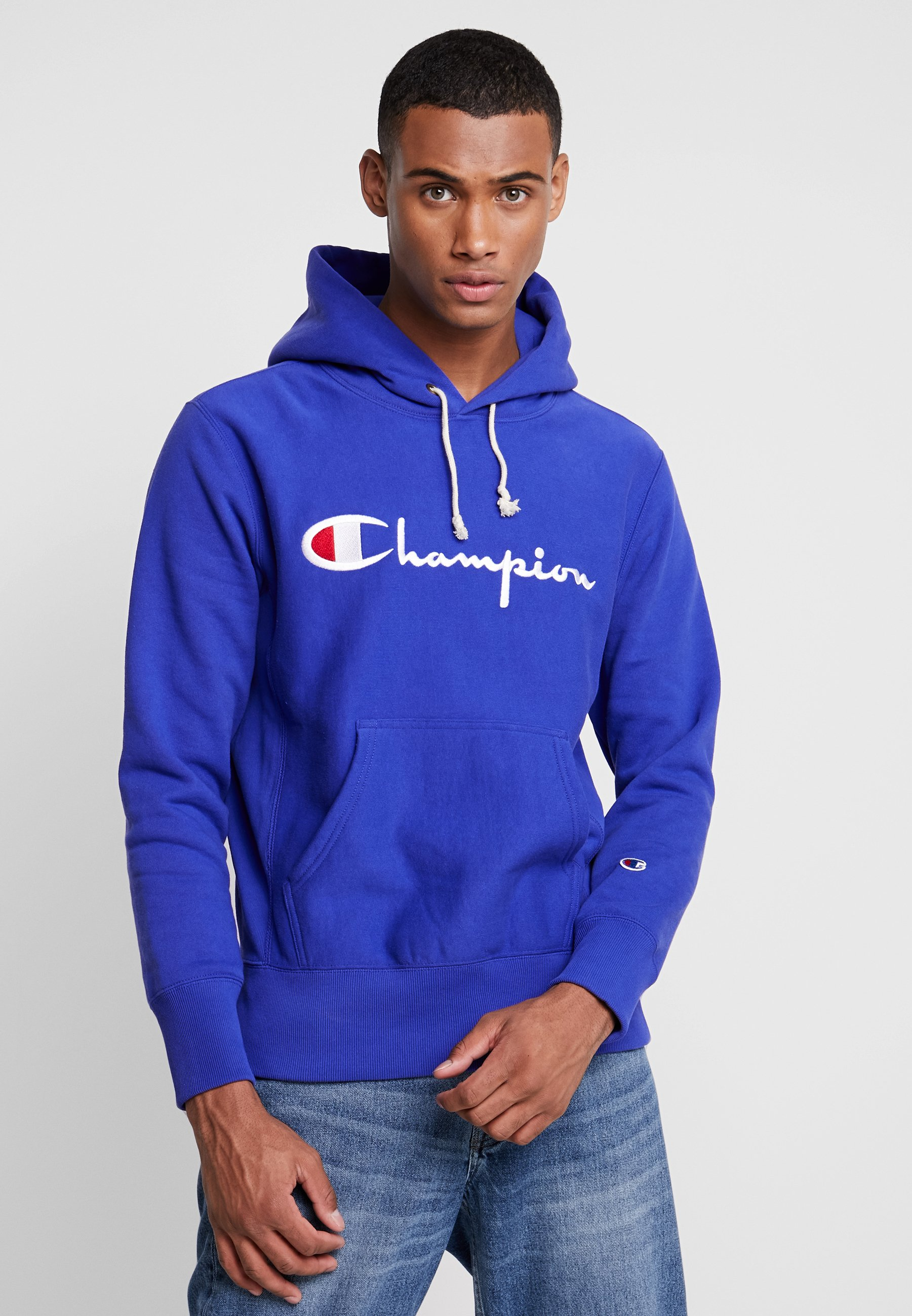 HOODED Bluza z kapturem blue
