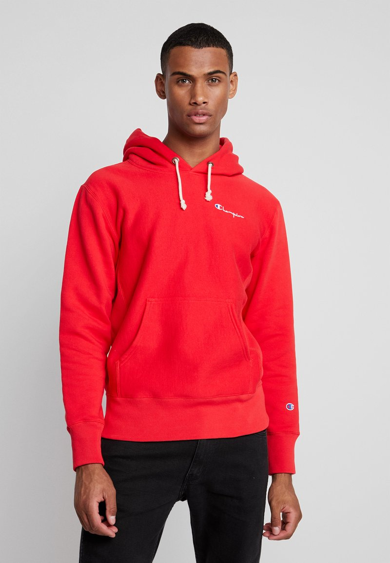 Champion Reverse Weave - WEAVE BRUSHED - Hoodie - red