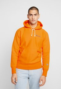 Champion Reverse Weave - SMALL SCRIPT LOGO HOODY - Sweat à capuche - autumn glory orange - 0