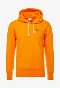 Champion Reverse Weave - SMALL SCRIPT LOGO HOODY - Sweat à capuche - autumn glory orange - 3