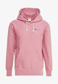 Champion Reverse Weave - SMALL SCRIPT LOGO HOODY - Huppari - light pink - 4