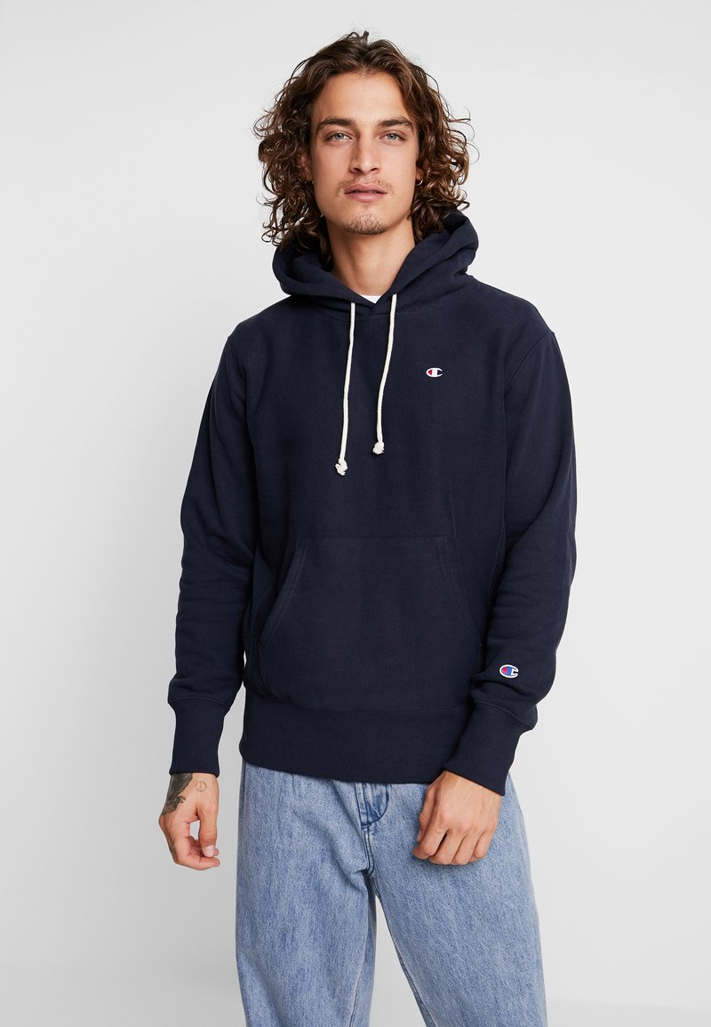 Champion Reverse Weave - HOODED - Sweat à capuche - dark blue