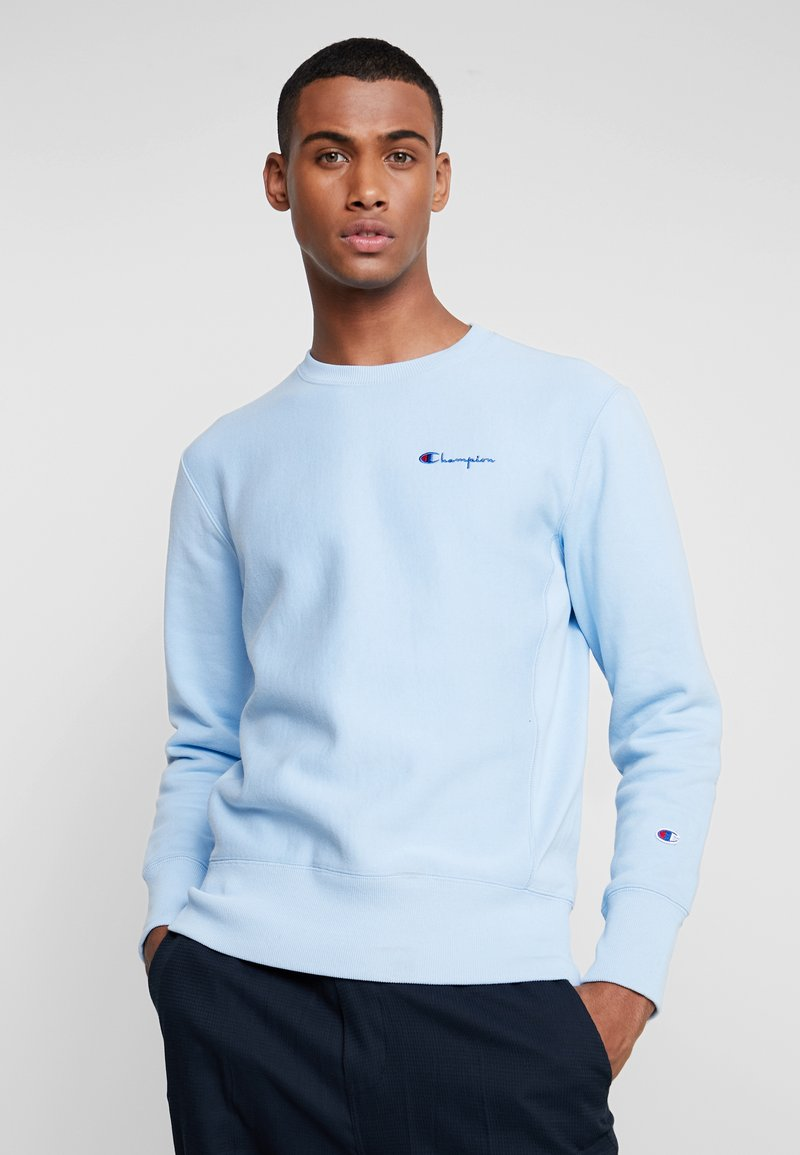 Champion Reverse Weave - SMALL SCRIPT CREWNECK  - Sweatshirt - light blue