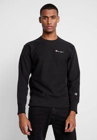 Champion Reverse Weave - SMALL SCRIPT CREWNECK  - Sweatshirt - black - 0