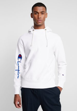 BIG SCRIPT HOODED - Huppari - white