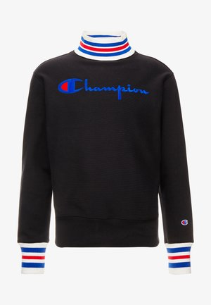 BIG SCRIPT HIGH NECK  - Sweatshirt - black
