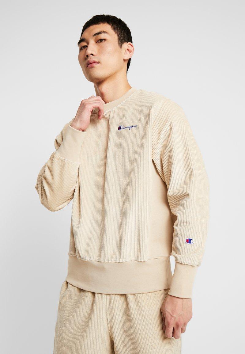 Champion Reverse Weave - CREWNECK CORD - Bluza - beige