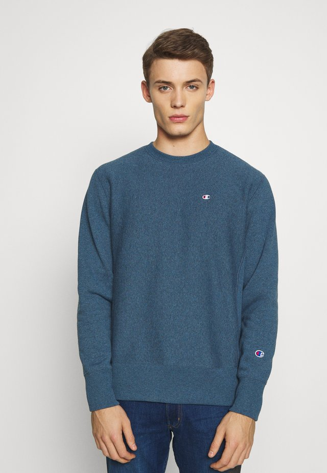 BASICS CREWNECK - Collegepaita - mottled dark blue