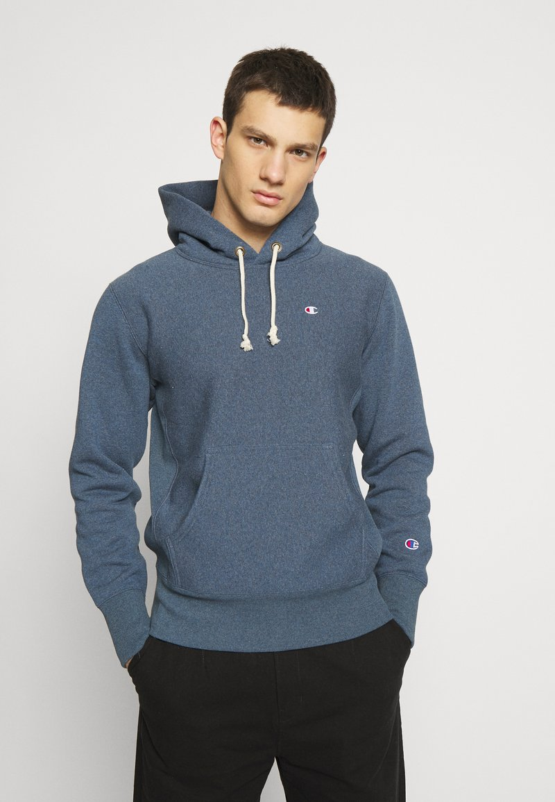 Champion Reverse Weave - BASIC HOODED - Bluza z kapturem - anthracite