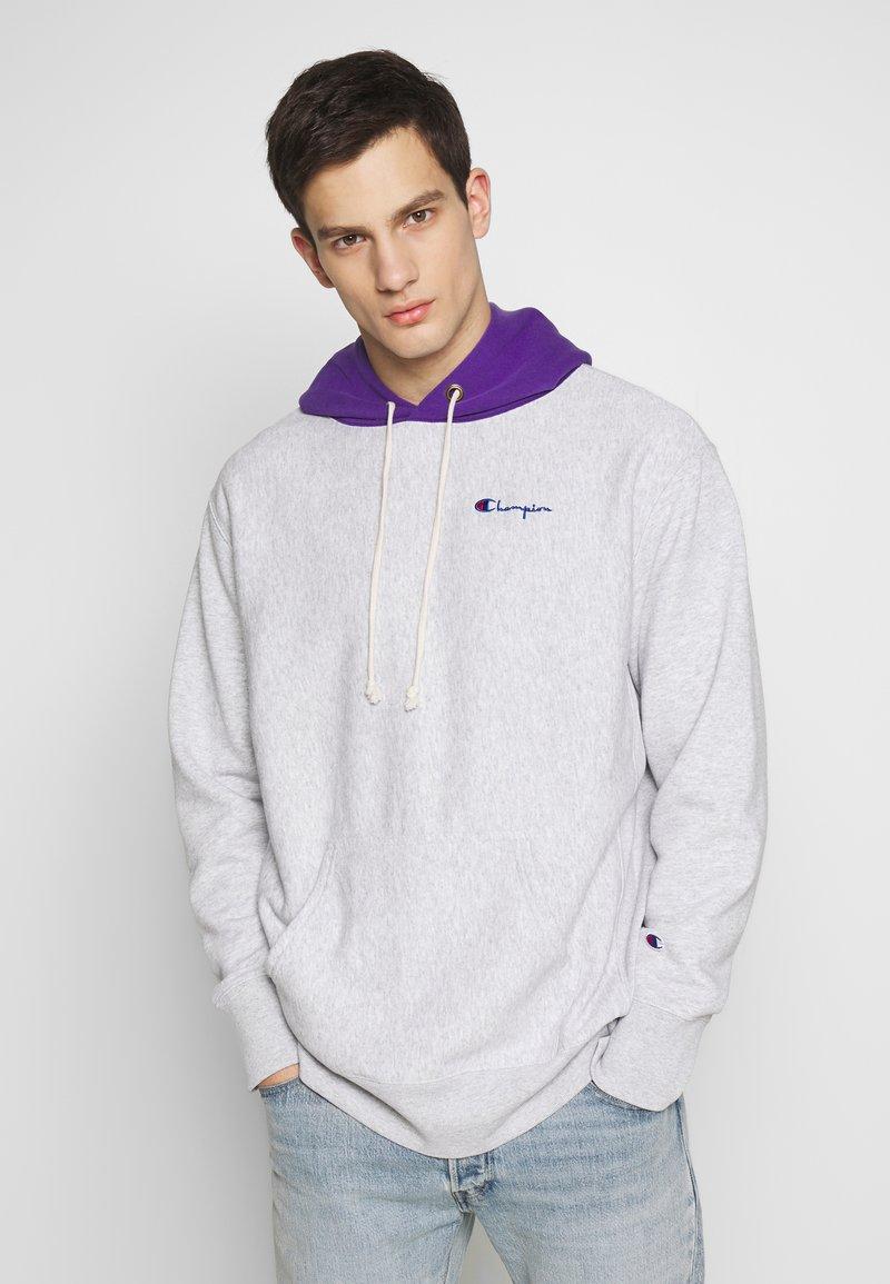 Champion Reverse Weave - HOODED  - Bluza z kapturem - mottled light grey