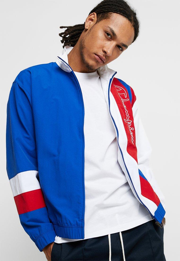 Champion Reverse Weave - PEACHED FEEL CRINKLE - Trainingsvest - blue/white