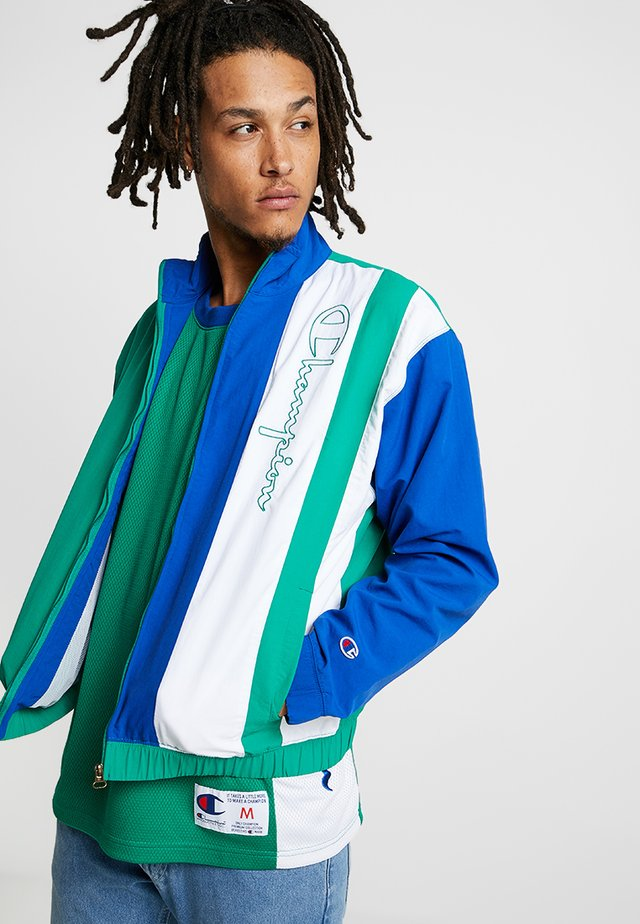 FULL ZIP TOP - Training jacket - green/blue