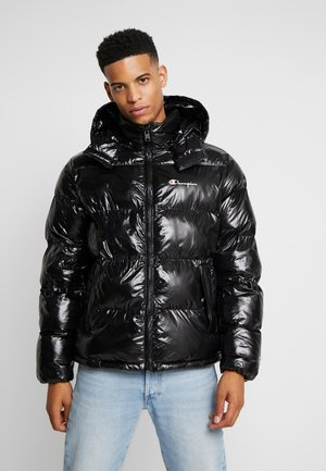 HOODED PUFF JACKET - Giacca invernale - black