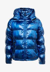 Champion Reverse Weave - HOODED PUFF JACKET - Vinterjakke - blue - 6