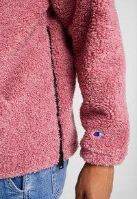 Champion Reverse Weave - HOODED SLIP-ON JACKET - Chaqueta fina - light pink - 4