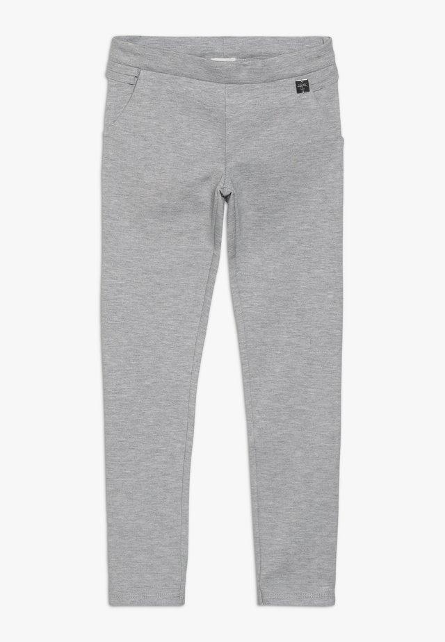 Trousers - meliertes hellgrau
