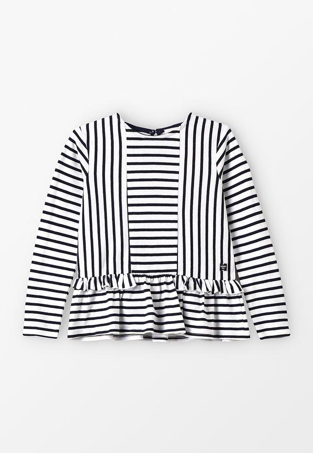 Långärmad tröja - ecru marine