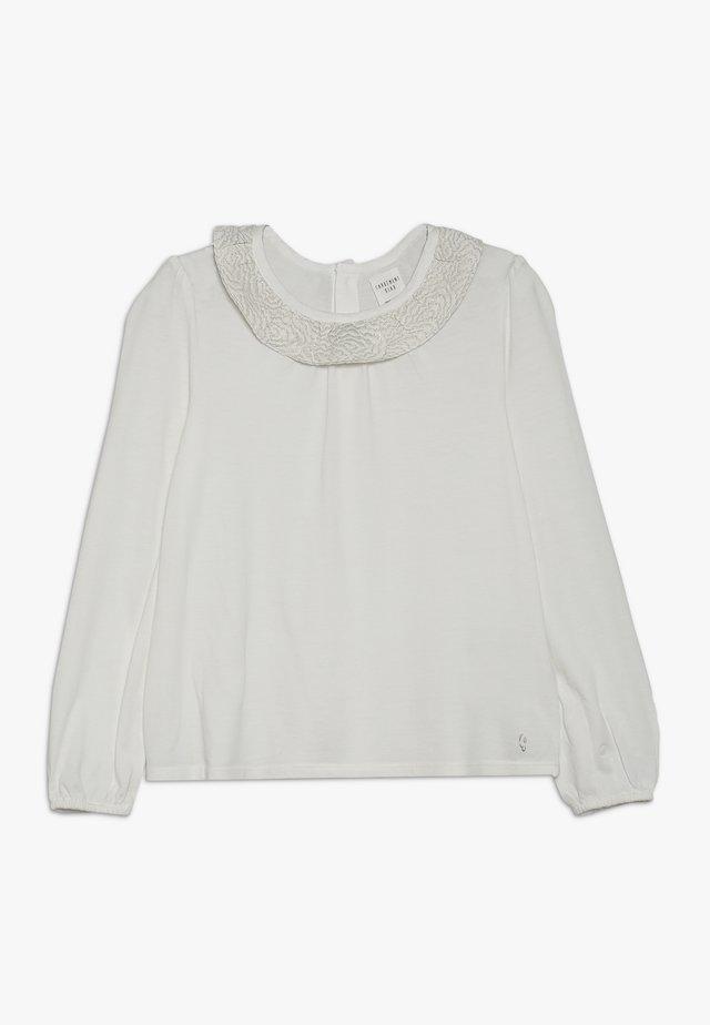 TEE DE CEREMONIE - Long sleeved top - gebrochenes weiss