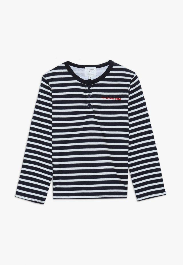 Long sleeved top - marine/ecru