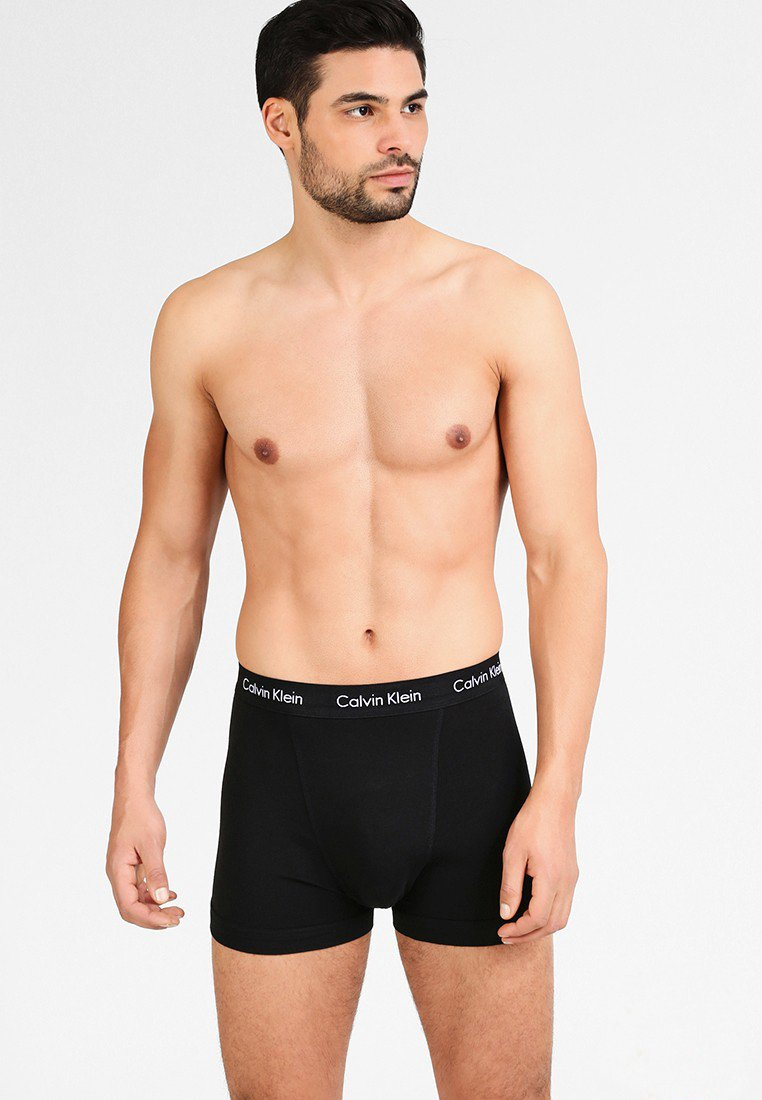 Calvin Klein Underwear - TRUNK 3 PACK - Pants - black