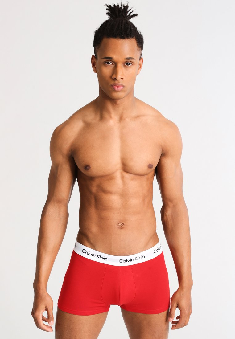 Calvin Klein Underwear - LOW RISE TRUNK 3 PACK - Onderbroeken - white/red ginger