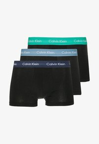 Calvin Klein Underwear - LOW RISE TRUNK 3 PACK - Culotte - blue/tourney/indigo