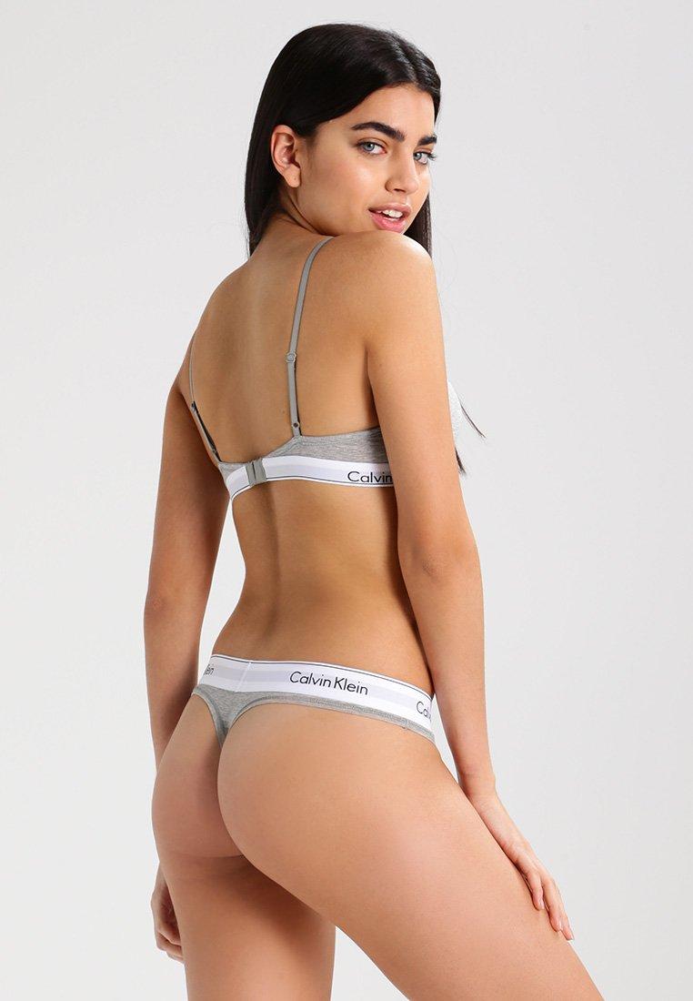 Calvin ThongString Heather Grey Modern Klein Underwear XlZTPkiuwO