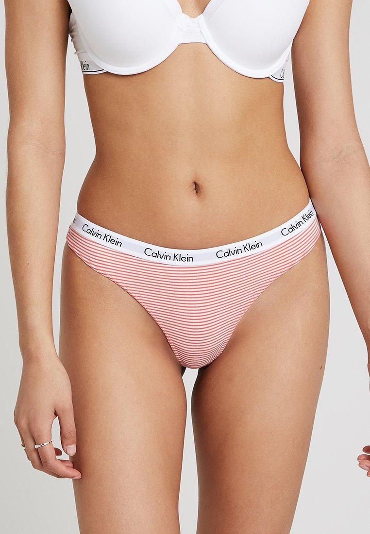 Calvin Klein Underwear - CAROUSEL - Thong - orange/white