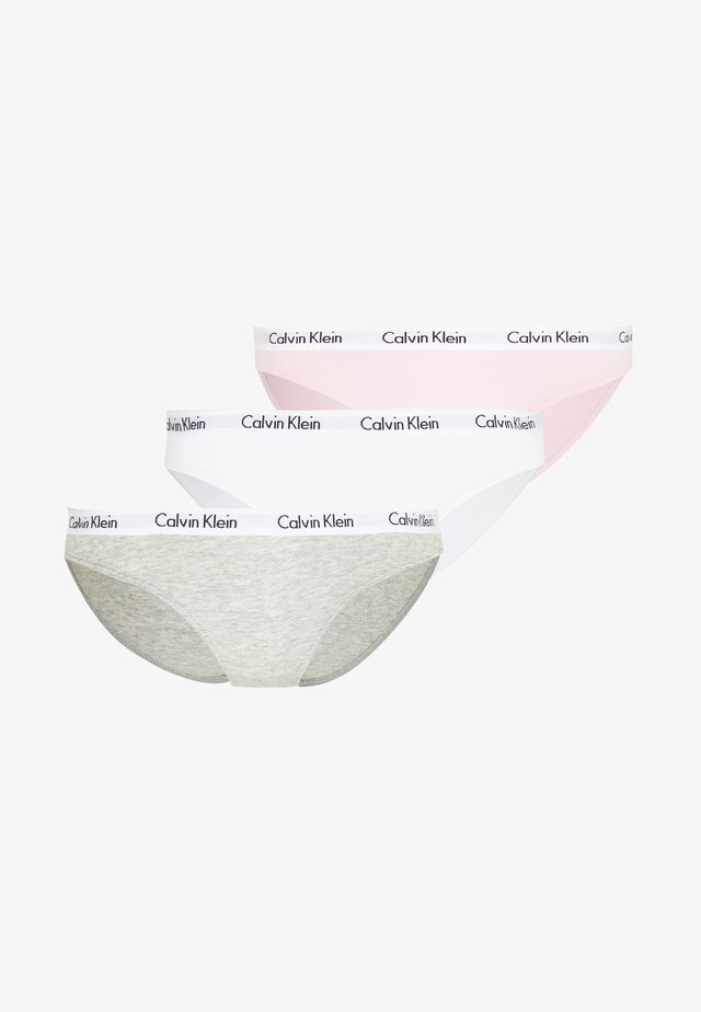 CAROUSEL 3 PACK  - Underbukse - bubble gum/white/grey heather