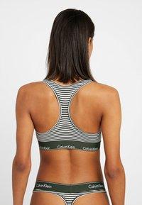 Calvin Klein Underwear - MODERN BRALETTE - Top - dark green/white - 2