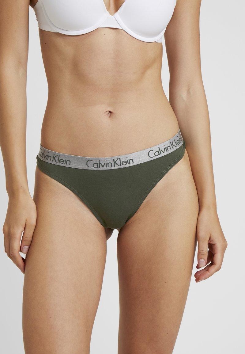 Calvin Klein Underwear - RADIANT THONG - G-strenge - dark green/grey