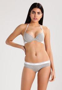 Calvin Klein Underwear - 2 PACK - Braguitas - grey heather - 0