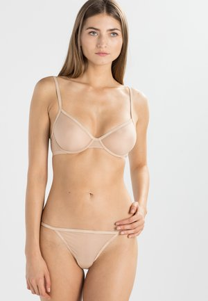 Underwired bra - beige