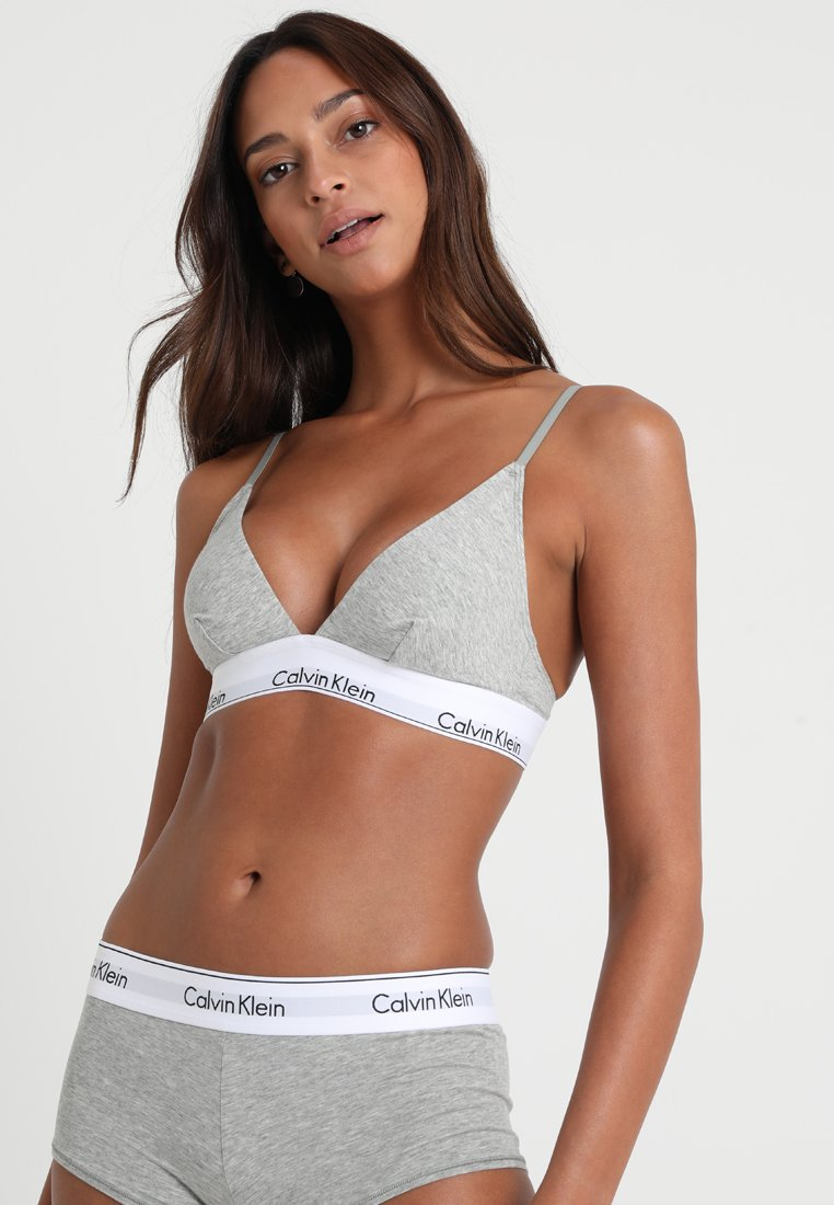 Calvin Klein Underwear - UNLINED - Reggiseno a triangolo - grey heather