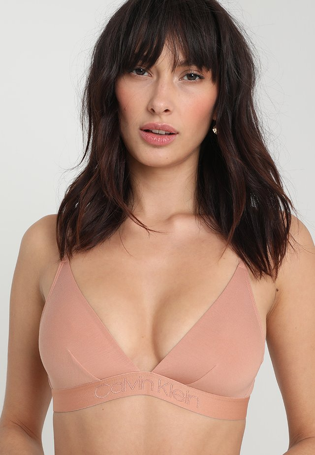 UNLINED - Triangle bra - beige