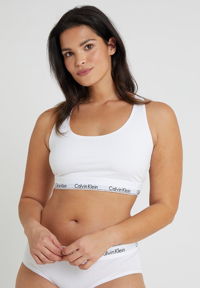Calvin Klein Underwear - MODERN PLUS UNLINED BRALETTE - Bustier - white