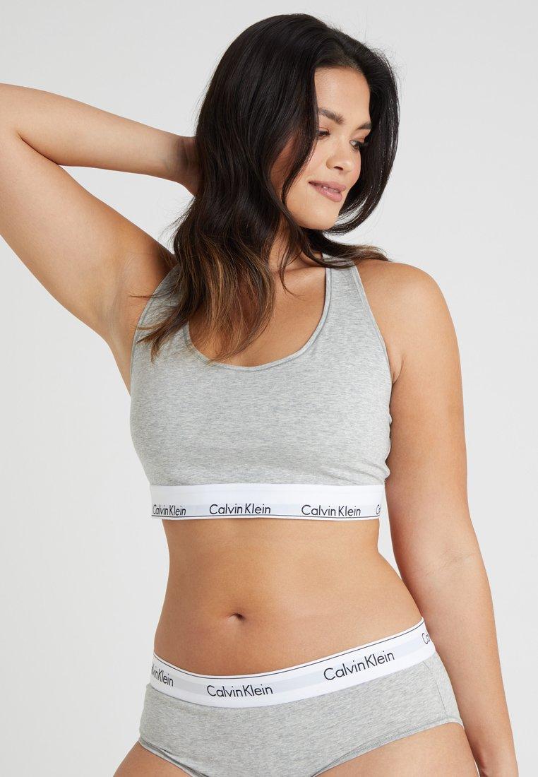 Calvin Klein Underwear - MODERN PLUS UNLINED BRALETTE - Bustino - grey heather