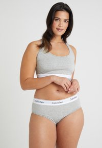 Calvin Klein Underwear - MODERN PLUS UNLINED BRALETTE - Bustino - grey heather - 1
