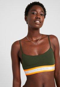 Calvin Klein Underwear - NEON UNLINED  - Bustier - dark green orange - 3
