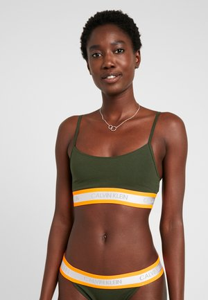 NEON UNLINED  - Korzet - dark green orange