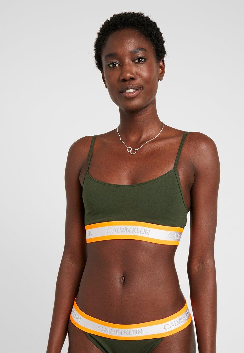 Calvin Klein Underwear - NEON UNLINED  - Bustier - dark green orange